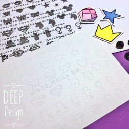 "Трафарет для ""Deep design"" D6 Ibdi_Nails"