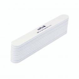 Набор классических пилок для ногтей белая 180/200 гр ParisNail 10 шт/уп