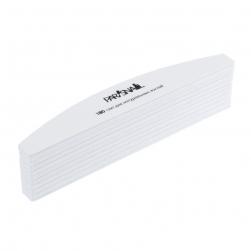 Набор пилок для ногтей лодочка белая 180/180 гр ParisNail 10 шт/уп