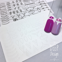 "Трафарет для ""Deep design"" D7 Ibdi_Nails"