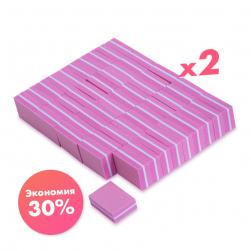 Баф мини 100/180 розовый ParisNail (2 упаковки по 50 шт) Опт