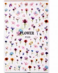 Наклейки F535 Цветы