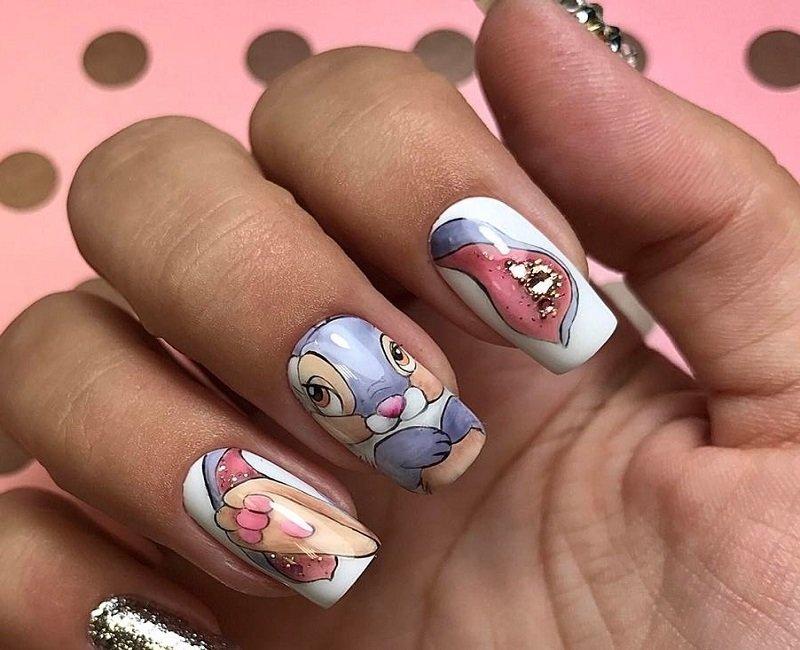 Стильный подростковый дизайн ногтей