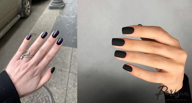 Черный гель-лак: глянцевый и матовый