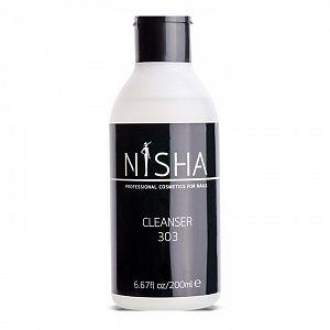 Жидкость для снятия липкого слоя и обезжиривания 303 Cleanser Nisha 200 мл